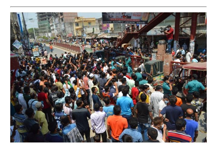 রাজশাহীতে ব্যবসা প্রতিষ্ঠান খুলে ফেলার হুমকি