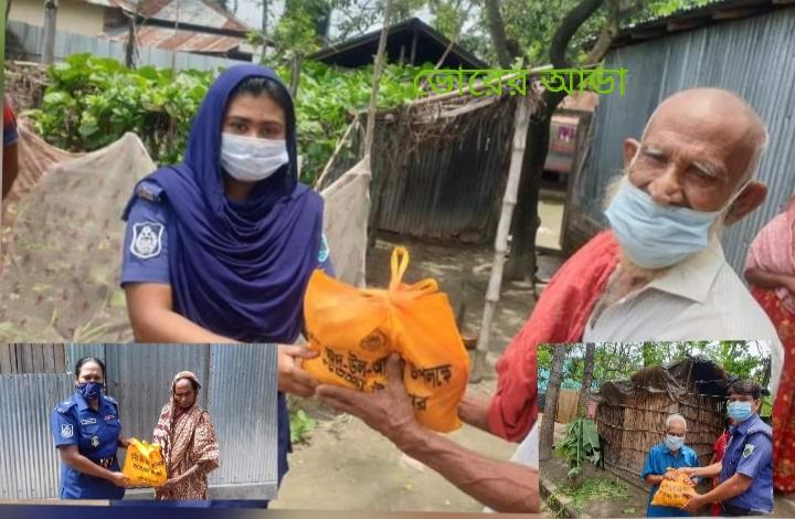 অসহায় দুস্থদের মাঝে ঈদ সামগ্রী বিতরণ করলেন রাজশাহী জেলা পুলিশ