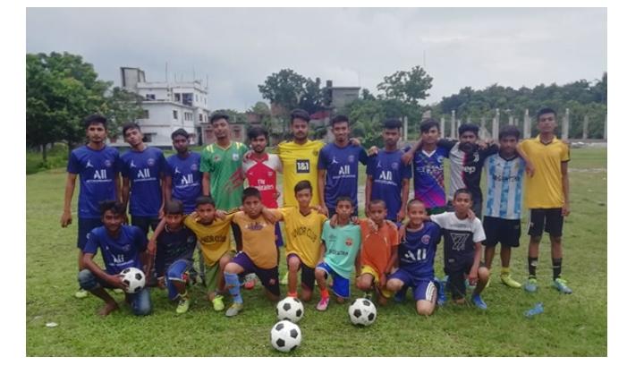 বাগমারায় চাঁনপাড়া ফুটবল একাডেমীর আনুষ্ঠানিক উদ্বোধন